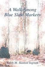 A Walk Among Blue Slate Markers