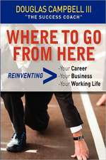 Where to Go from Here:  Reinventing -Your Career -Your Business -Your Working Life