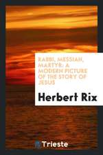 Rabbi, Messiah, Martyr: A Modern Picture of the Story of Jesus