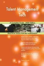 Talent Management Tech A Complete Guide - 2020 Edition