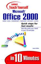Teach Yourself Microsoft Office 2000 in 10 Minutes