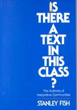 Is There a Text in This Class? – The Authority of Interpretive Communities