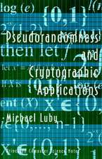 Pseudorandomness and Cryptographic Applications Applications