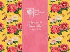 Rhs Peonies and Butterflies Postcards