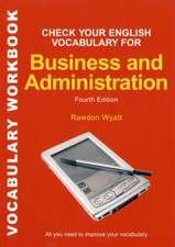 Check your English Vocabulary for Business & Administration