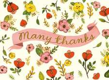 Sweet Floral Embellished Thank You Notes