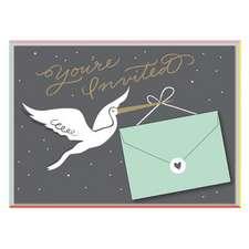 Cheree Berry Stork Stops Here Baby Shower Invite