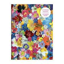 Flowers PVC Multi-Pocket Cover Journal