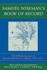 Samuel Wiseman's Book of Record
