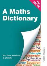 A Mathematical Dictionary for IGCSE