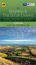 Walker's Map Brighton & the South Downs:  Edinburgh & the Pentland Hills