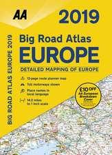 AA BIG ROAD ATLAS EUROPE 2019 SPIRAL