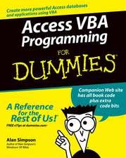 Access VBA Programming For Dummies