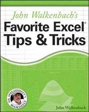 John Walkenbach's Favorite Excel Tips& Tricks:  Homemade Goodies for Man's Best Friend