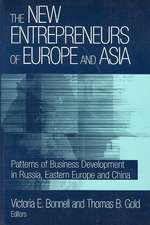 The New Entrepreneurs of Europe and Asia:  Patterns of Business Development in Russia, Eastern Europe, and China