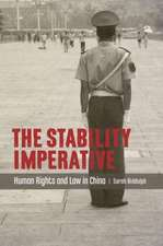 The Stability Imperative:  Human Rights and Law in China