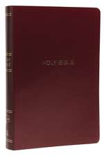 NKJV, Reference Bible, Center-Column Giant Print, Leather-Look, Burgundy, Red Letter Edition, Comfort Print