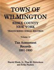 Town of Wilmington, Essex County, New York, Transcribed Serial Records:  Volume 12, Tax Assessment Records, 1891-1900
