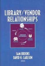 Library/Vendor Relationships