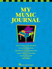 My Music Journal - Student Assignment Book:  Hal Leonard Student Piano Library