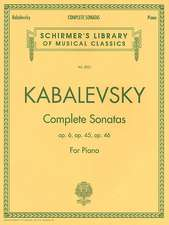Dmitri Kabalevsky - Complete Sonatas for Piano: Schirmer Library of Classics Volume 2033