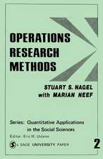 Operations Research Methods: As Applied to Political Science and the Legal Process