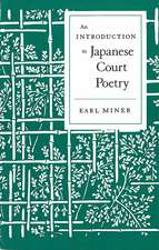 An Introduction to Japanese Court Poetry
