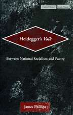 Heidegger's Volk: Between National Socialism and Poetry