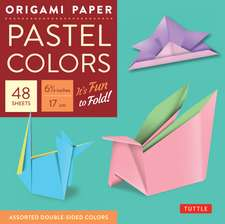 """Origami Paper - Pastel Colors - 6 3/4"""" - 48 Sheets: Tuttle Origami Paper: High-Quality Origami Sheets Printed with 6 Different Colors: Instructions for 6 Projects Included"""