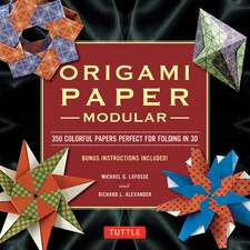 Modular Origami Paper Pack: Tuttle Origami Paper: 350 Colorful Papers Perfect for Folding in 3D