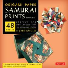 """Origami Paper - Samurai Prints - Large 8 1/4"""" - 48 Sheets: Tuttle Origami Paper: High-Quality Origami Sheets Printed with 8 Different Designs: Instructions for 6 Projects Included"""