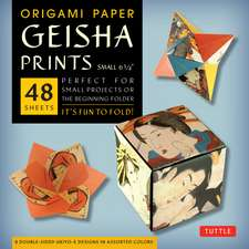 """Origami Paper - Geisha Prints - Small 6 3/4"""" - 48 Sheets: Tuttle Origami Paper: High-Quality Origami Sheets Printed with 8 Different Designs: Instructions for 6 Projects Included"""