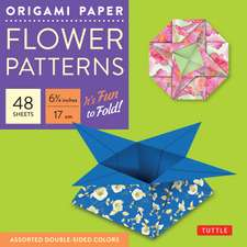 """Origami Paper - Flower Patterns - 6 3/4"""" Size - 48 Sheets: Tuttle Origami Paper: High-Quality Origami Sheets Printed with 8 Different Designs: Instructions for 7 Projects Included"""