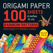 """Origami Paper - Rainbow Patterns - 6"""" Size - 96 Sheets: Tuttle Origami Paper: High-Quality Origami Sheets Printed with 8 Different Patterns: Instructions for 7 Projects Included"""
