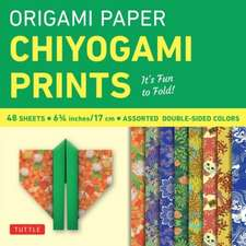"Origami Paper - Chiyogami Prints - 6 3/4"" - 48 Sheets: Tuttle Origami Paper: High-Quality Origami Sheets Printed with 8 Different Patterns: Instructions for 6 Projects Included"