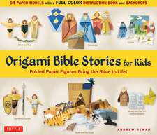 Origami Bible Stories for Kids Kit: Folded Paper Figures and Stories Bring the Bible to Life!  64 Paper Models with a full-color instruction book and 4 backdrops
