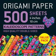 "Origami Paper 500 sheets Kaleidoscope Patterns 4"" (10 cm): Tuttle Origami Paper: High-Quality Double-Sided Origami Sheets Printed with 12 Different Patterns"
