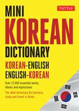 Mini Korean Dictionary: Korean-English English-Korean