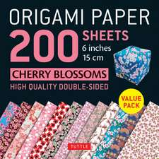 "Origami Paper 200 sheets Cherry Blossoms 6"" (15 cm): Tuttle Origami Paper: High-Quality Origami Sheets Printed with 12 Different Patterns: Instructions for 8 Projects Included"