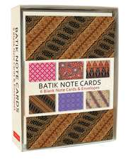 Batik Note Cards: 6 Blank Note Cards & Envelopes  (6 x 4 inch cards in a box)