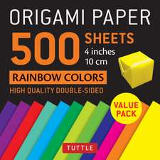 """Origami Paper 500 sheets Rainbow Colors 4"""" (10 cm): Tuttle Origami Paper: High-Quality Double-Sided Origami Sheets Printed with 12 Different Color Combinations"""