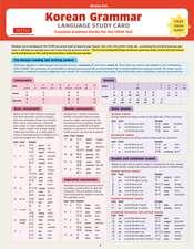 Korean Grammar Language Study Card