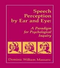 Speech Perception By Ear and Eye