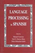 Language Processing in Spanish