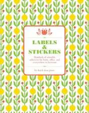Dutch Door Labels & Stickers:  225 Vintage-Inspired Textile Designs
