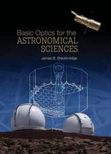 Basic Optics for the Astronomical Sciences