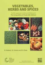 Vegetables, Herbs and Spices:  Supplement to the Composition of Foods