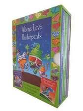 Aliens & Dinos in Underpants Board Book Slipcase