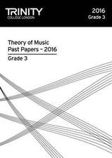 Theory of Music Past Papers 2016 - Grade 3