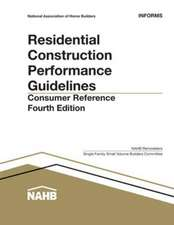Residential Construction Performance Guidelines:  Consumer Reference